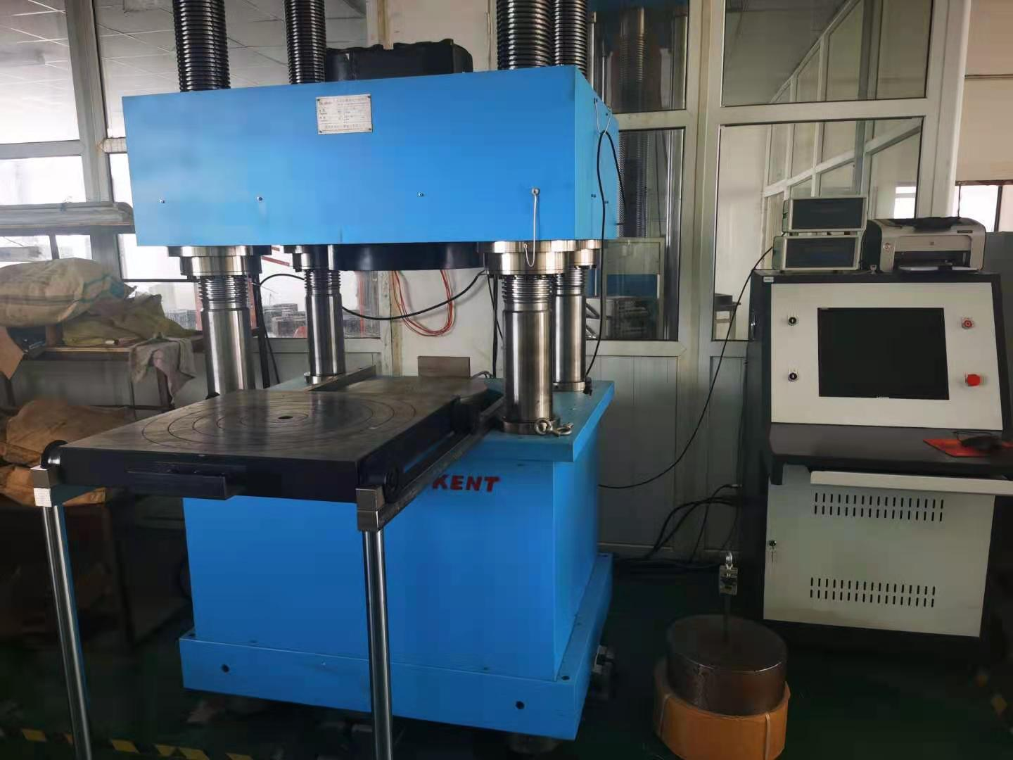 Brand new 800T load cell calibration machine joins Zhimin production line